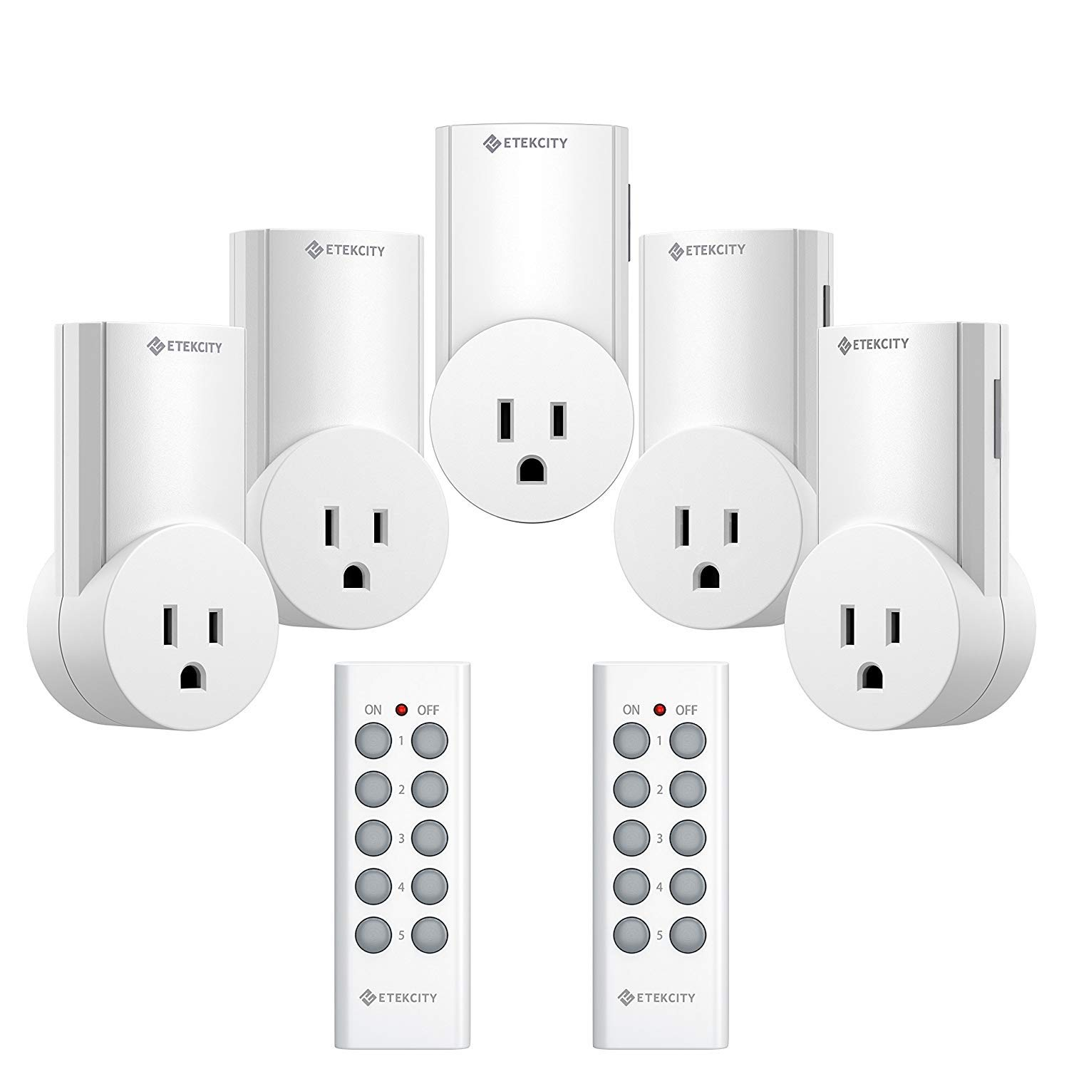 Best Rated In Ground Fault Circuit Interrupter Outlets Helpful Wire Feed Motor Diagram Etekcity Upgraded Version Wireless Remote Control Plug Electrical Outlet Switch Light Compatible With Classic White 5lx S