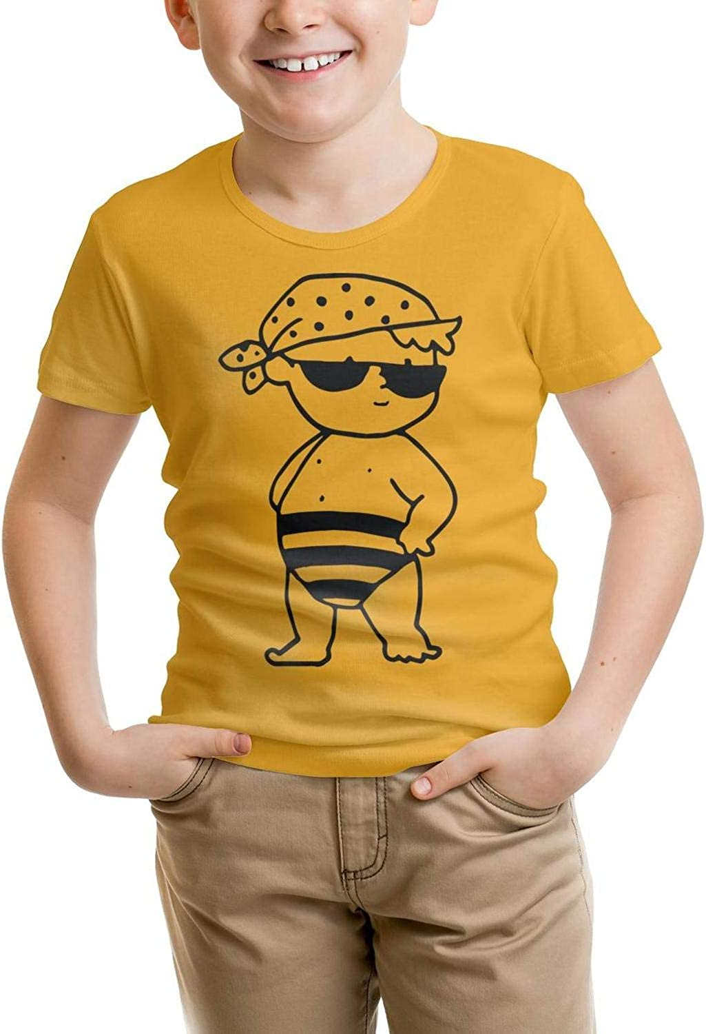 100/% Cotton Swimsuit t Shirt Slim-Fit for Young Shirts Cute Pattern