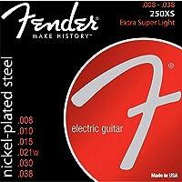 Fender Accessoires Vernikkeld staal Ronde wond Bass Strings 1 Super 250's 8-38 Super 250's