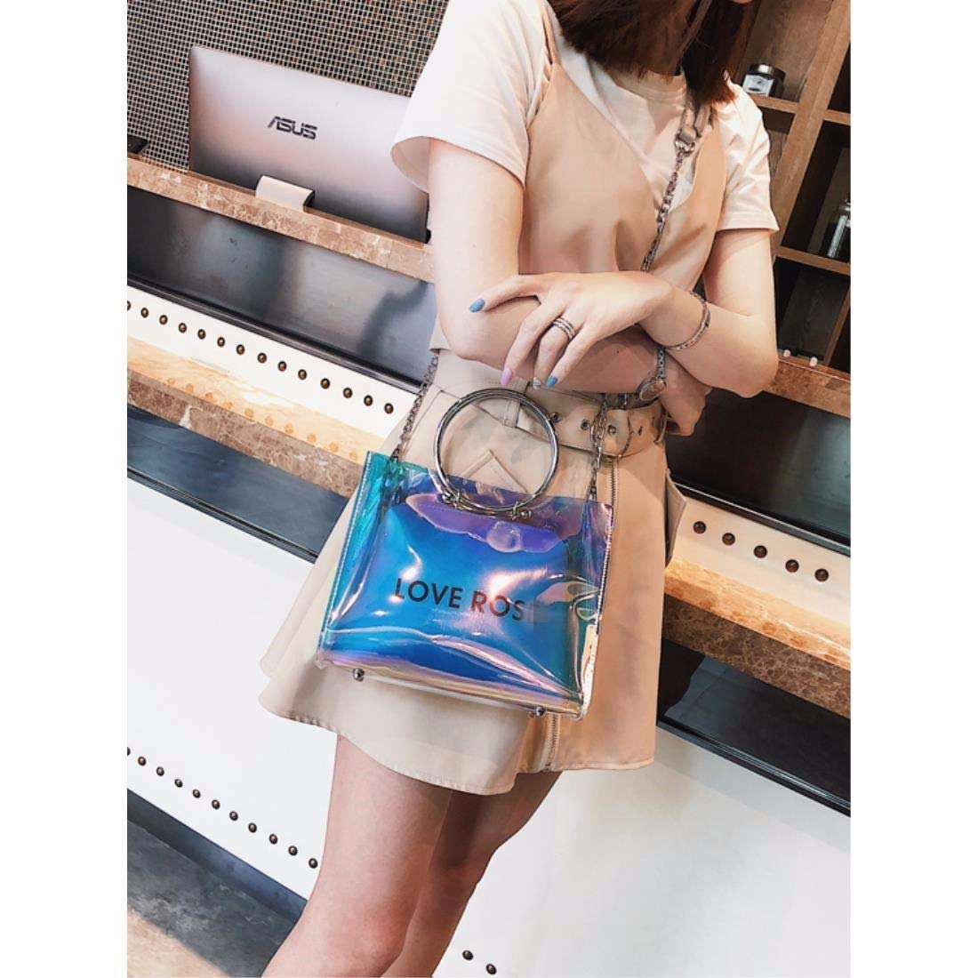 ERLINGSAN-XKB Weibliche Tasche Transparente Tasche Sommer Crossbody Beutel Beutel Beutel Kette Candy Bag B07GXL42RX Umhngetaschen Angenehmes Aussehen 45023a