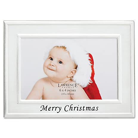 Amazon.com - Lawrence Frames Merry Christmas Silver Plated 6x4 ...