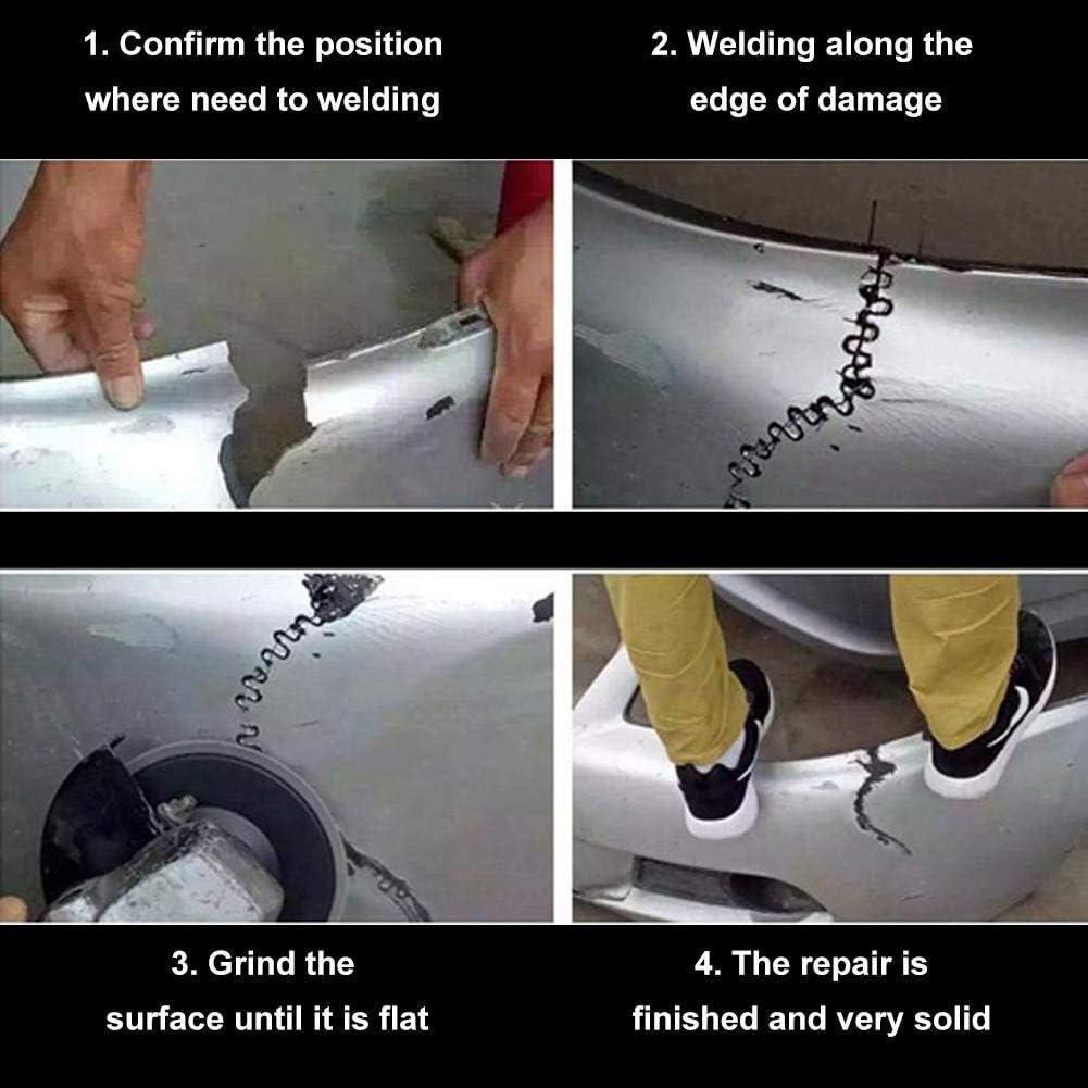 Welding Staples Roundabout corrugated 0.6 Akozon 100pcs 0.6mm Auto Bumper Repair Pre Cut Welding Staples Repair Tool Kit 3 Types Available for Car Bumper Plastic Stapler Repair Welder