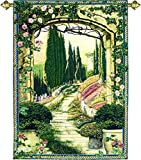 Manual Woodworkers & Weavers Tapestry Grande Wall Hanging, South of France, 56 x 80''