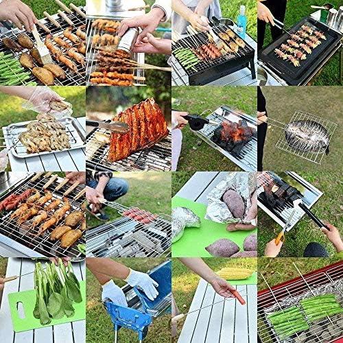 Barbecue HZY Portable épais en Acier Inoxydable Grills léger BBQ Grills for extérieur Pique-Nique Jardin Camping de Cuisine 28 * 40 * 21.5cm