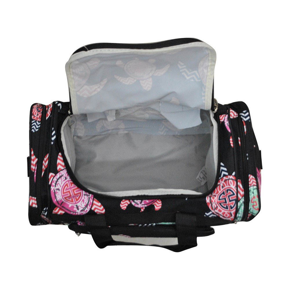 Sea Turtle Black//Black NGIL Canvas Carry on 17 Duffle Bag