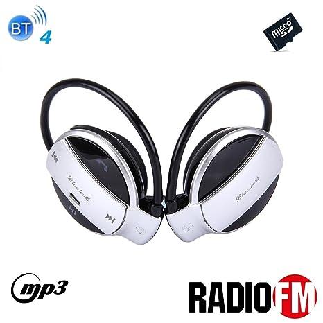 Cuffie auricolari sport Bluetooth 4 alta qualità Radio FM mp3 player  MicroSD telefonate mic e comandi b5a9bd53d18f