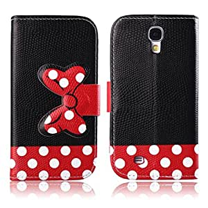 Bowknot Cute red Polka Dots Bow-Knot PU Flip Leather Stand Wallet Case Cover for Samsung Galaxy Core II 2 SM-G355H