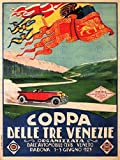 EXHIBITION MOTOR SPORT VENICE ITALY AUTOMOBILE CAR VINTAGE POSTER PRINT 855PY