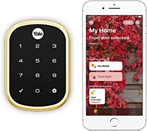 Yale Security YRD256-iM1-605 Assure LOCK SL Yale Assure LOCK SL Works with Apple HomeKit - with IM1 Network Module (YRD256iM1605), Polished Brass