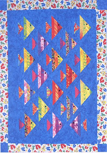 Pattern~1 Fish 2 Fish~ Using 2 and One Half Inch Strips and Strip Tube Ruler Cozy Quilt (2 Quilt Patterns)