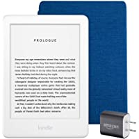 $124 Get Kindle Essentials Bundle including All-new Kindle, now with a built-in front light, White - with…