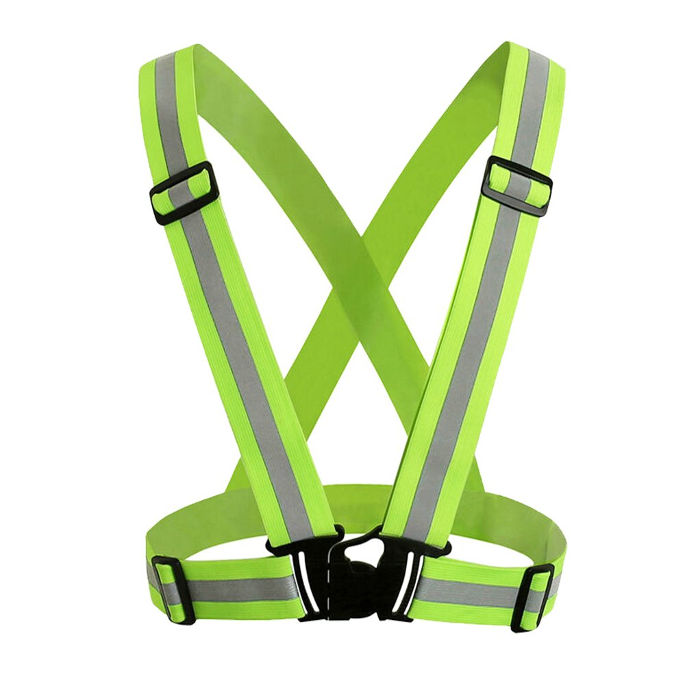 JTDEAL Safety Vest High Visibility Reflective Harness Adjustable Elastic Light for Outdoor Running Running, Walking, Cycling, Walking, Sports etc