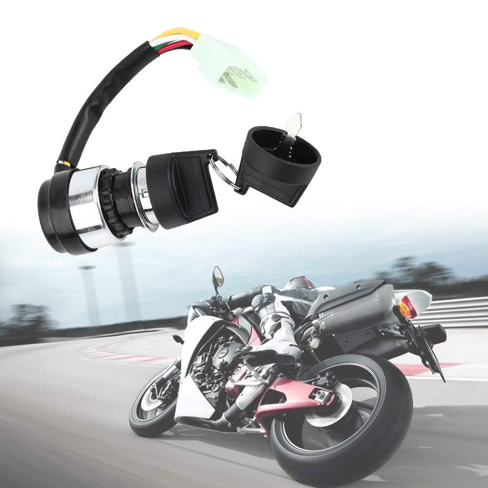 Sistema encendido interruptor arranque 5/hilos 5/pines para dunas motocicleta bicicletas 50/ /250/cc kart ATV bicicleta con 2/llaves