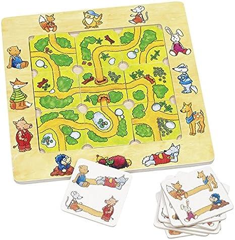 Goki-56944 Juegos de Mesa de Puzzle, Encuentra El Camino, Multicolor (4013594569446) , color/modelo surtido