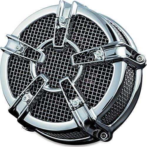 Kuryakyn Jet - Kuryakyn 9570 Mach 2 Co-Ax Air Cleaner/Filter Kit for 1999-2017 Harley-Davidson Twin Cam, Delphi EFI Motorcycles, Chrome