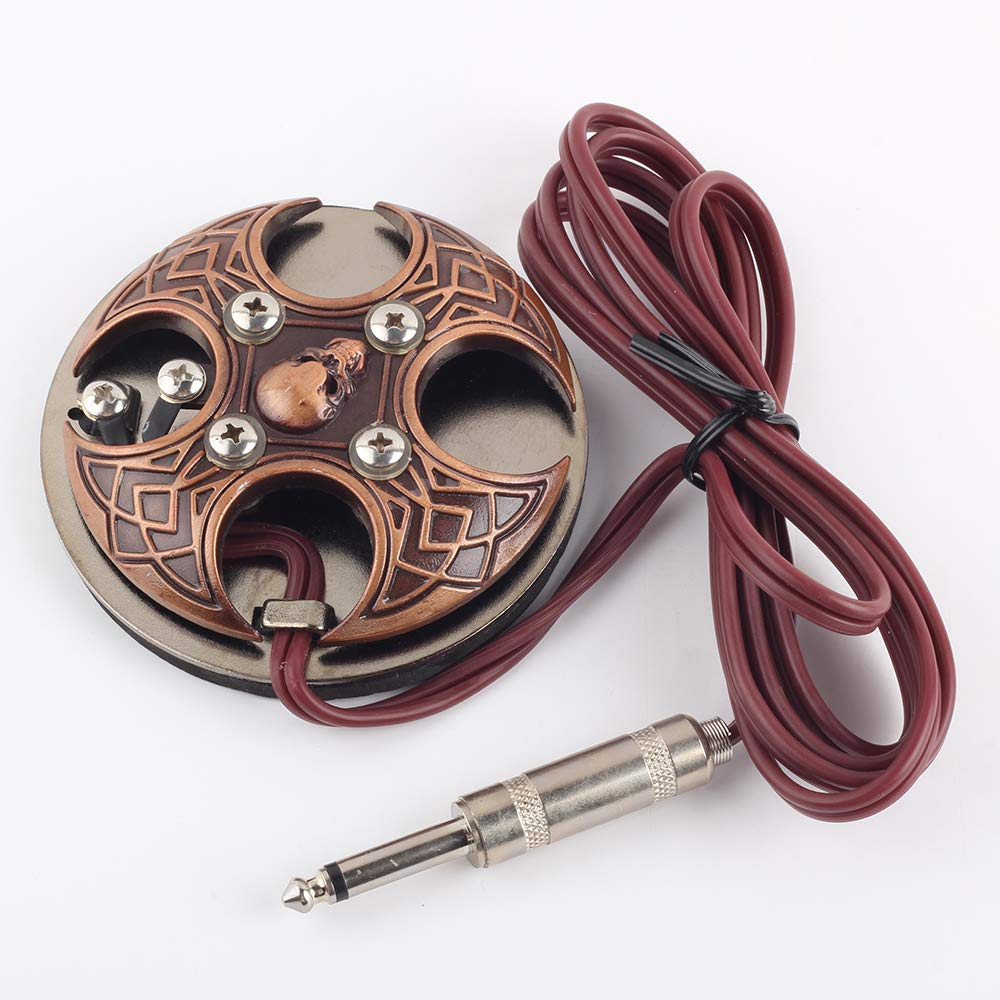 Amazon.com: Tattoo Foot Padel Cross Skull Switch Red Copper ...