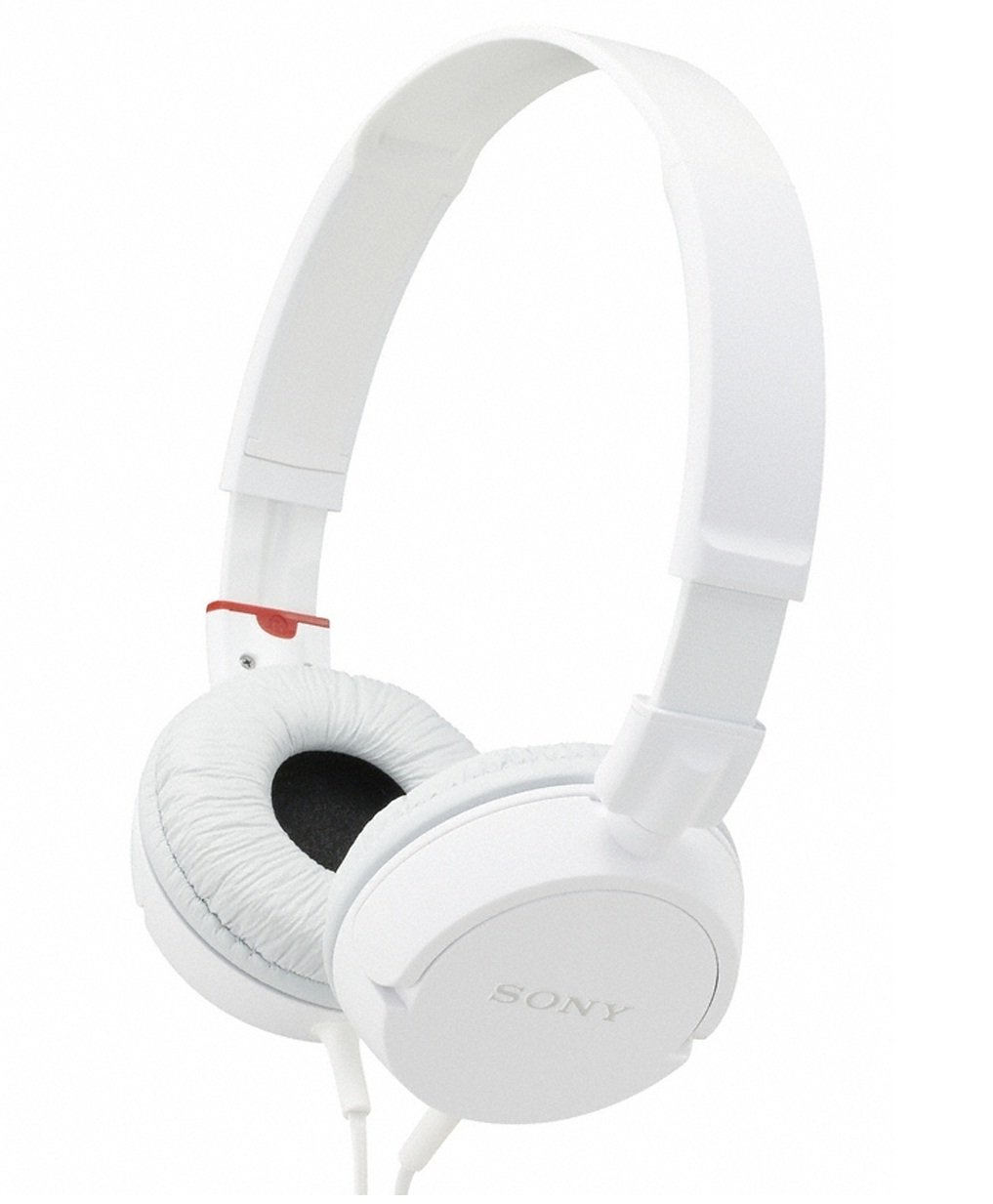 Sony Slim Lightweight Dynamic Studio Monitor Stereo Headphones with Pressure Relieving Earpads, Swivel Earcups, High Power Neodymium Magnets, 30mm Deep Bass Drivers, Multi-Layer Dome Diaphragms and a Noise-Reducing Closed Supra-Aural Design - White - Compatible with all Portable and Home Audio Players
