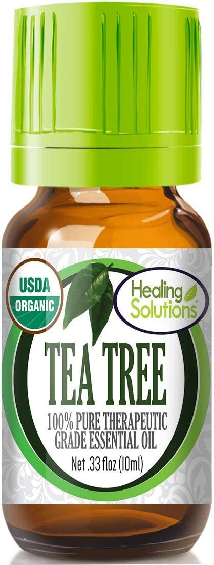 Organic Tea Tree Essential Oil (100% Pure - USDA Certified Organic) Best Therapeutic Grade Essential Oil - 10ml