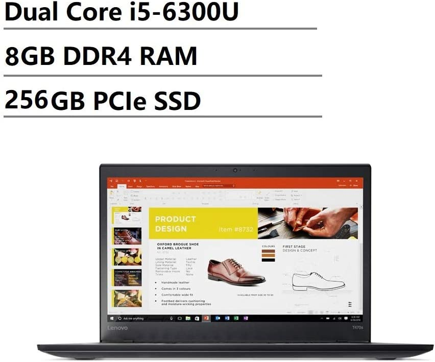 Lenovo Thinkpad T470s 14 inch FHD (1920x1080) IPS Backlit LED Business Laptop (Intel Dual-Core i5-6300U, 8GB DDR4 RAM, 256GB SSD, HD 520) Thunderbolt 3, HDMI, RJ-45, Type-C, Windows 10 Professional