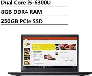 Lenovo Thinkpad T470s 14 inch FHD (1920x1080) IPS Backlit LED Business Laptop (Intel Dual-Core i5-6300U, 8GB DDR4 RAM, 256GB SSD, HD 520) Thunderbolt 3, HDMI, RJ-45, Type-C, Windows 10 Professional
