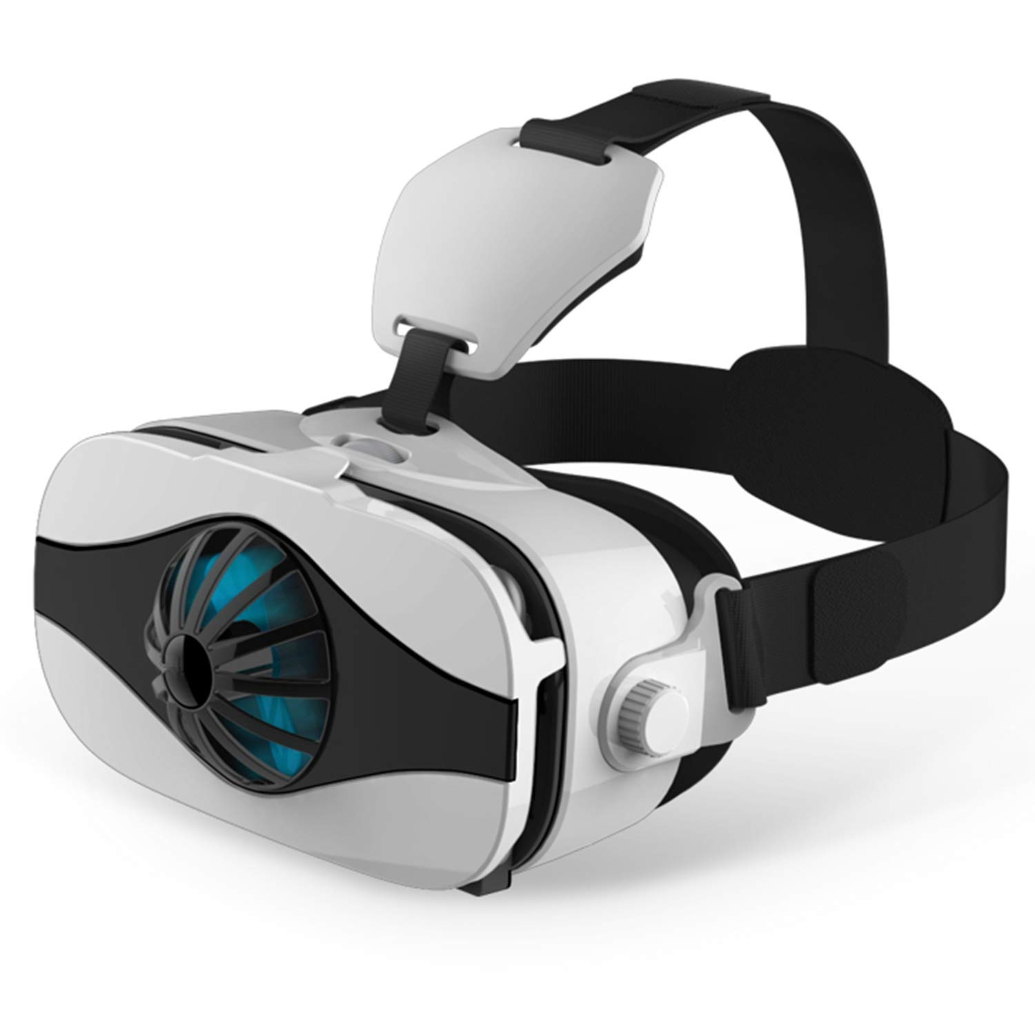 """3D VR Headset/Glasses, Tsanglight VR Virtual Reality Goggles w/Fans for 3D IMAX Movie/Game for Samsung Galaxy Note 8 S9 S8 S7 S6 Edge, iPhone 9 X 8 7 6S 6 Plus New Phone & Other 4.0-6.33"""" Cellphone"""