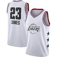HEBZ Hombres Camiseta de Baloncesto 23# los Lakers de Los Angeles Lebron James Swingman Jersey Malla Resistente al Desgaste Ropa de Deporte Sin Mangas