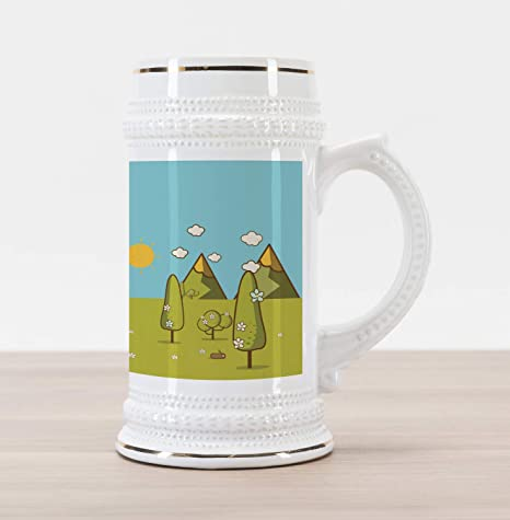 7933caf647c Amazon.com  Lunarable Camping Beer Stein Mug