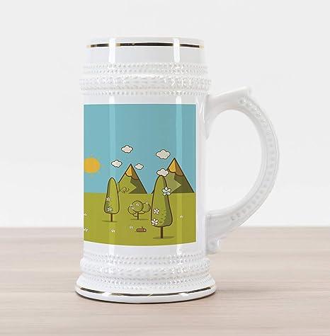 7933caf647c Amazon.com  Lunarable Camping Beer Stein Mug