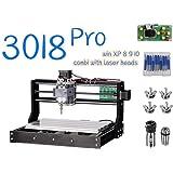 4YANG CNC-Maschinenset Verbesserte CNC 3018 Pro GRBL Steuer-Router-Kit Holz-Router Engraver 3-Achsen-Kunststoff-Acryl-PVC-Holzschnitzerei Fr/äsmaschine