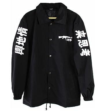 d84bbea24 Fly Coach AK-47 Japanese Coach Jacket Black: Amazon.co.uk: Clothing