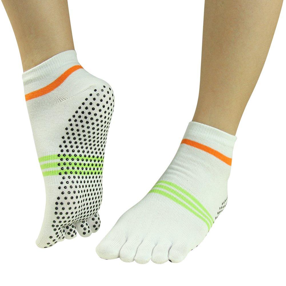 be7706fac Jcolour Unisex Pilates Barre Gripes Ankle Sports Athletic Bikram Ballet  Dance J'colour Womens Girls Dot Patterned Practise Socks ...