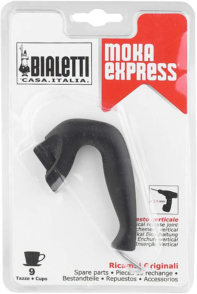 Bialetti 9 o 12 Tazas Moka Express Mango, plástico, Negro: Amazon ...