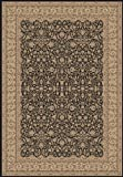 148732 - 2'2 x 7'7 - Rug Depot Traditional Hall Runner - Dynamic Legacy 58004-090 Black - Black Background - Machine Made of 100% Polypropelene Fibers - 800,000 Points - T-6 Quality Rating - Hall Runners with Matching Stair Runners, Area Rugs and Stair Tr