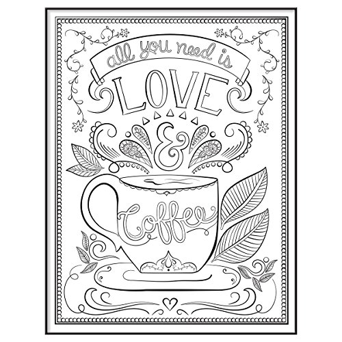 Mcs 10x13 Inch Time Out Color In Frame Adult Coloring Page