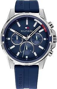 Tommy Hilfiger Reloj Analógico para Hombre de Cuarzo con Correa en Silicona 01791791