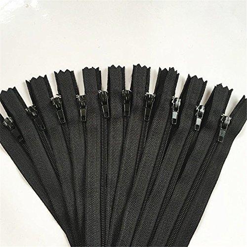 WKXFJJWZC 50pcs black Nylon Coil Zippers Tailor Sewer Craft