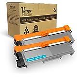 V4INK Compatible 2 Pack Toner Cartridge Replacement for Brother Color Printer DCP-L2520DW L2540DW HL-L2300D L2340DW L2360DW L2380DW L2500D MFC-L2700DW L2720DW L2740DW Series Brother TN2320 Black