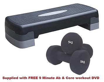 Paso aeróbico par de mancuernas y ejercicio paso y juego de ...