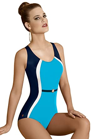 a22513b81d Kelinda Tiphaine Contemporary One Piece Shaping Swimsuit, Ladies Swimwear.:  Amazon.co.uk: Clothing
