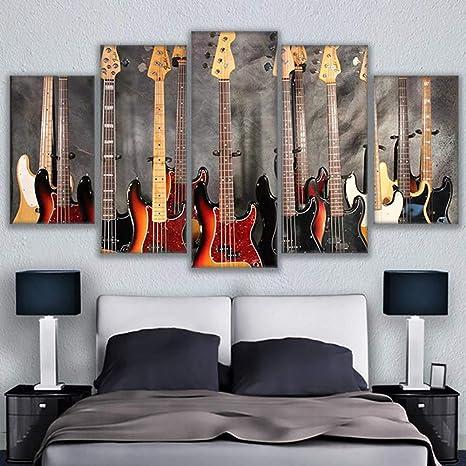 CXDM 5 Piezas Guitarra De Instrumento Musical Pintura Póster ...