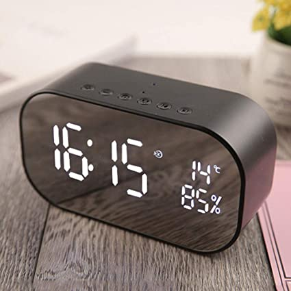 Amazon.com: Mirror Alarm Clock with Bluetooth Speaker ...