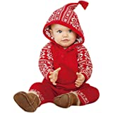 Magiyard Navidad con Capucha de impresión Romper Jumpsuit Trajes de Pijamas