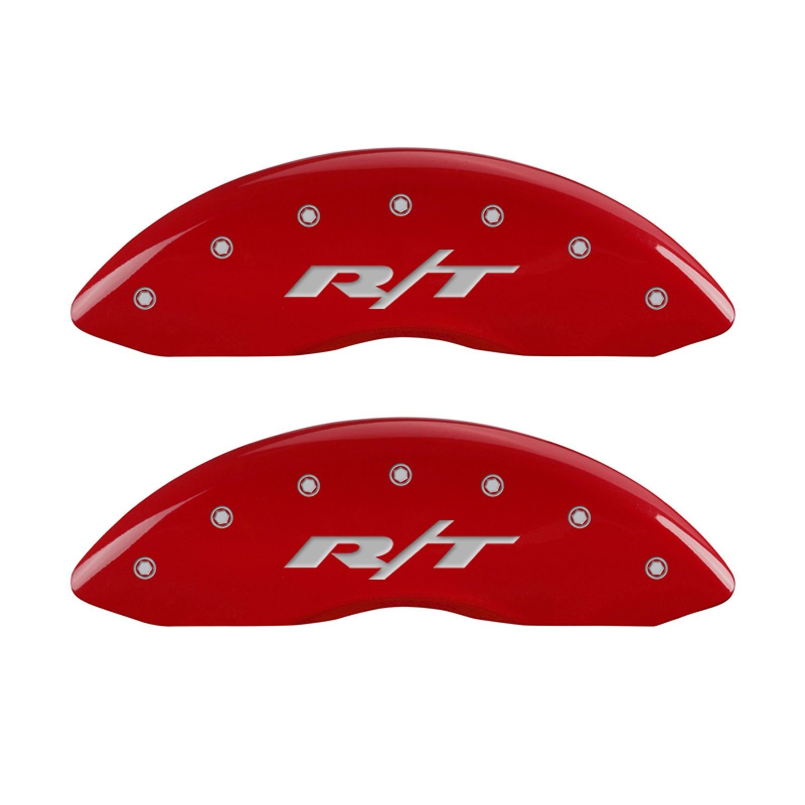 MGP Caliper Covers 12162SRT1RD Red Powder Coat Finish Engraved Front/Rear RT Caliper Cover, (Set of 4) by MGP Caliper Covers