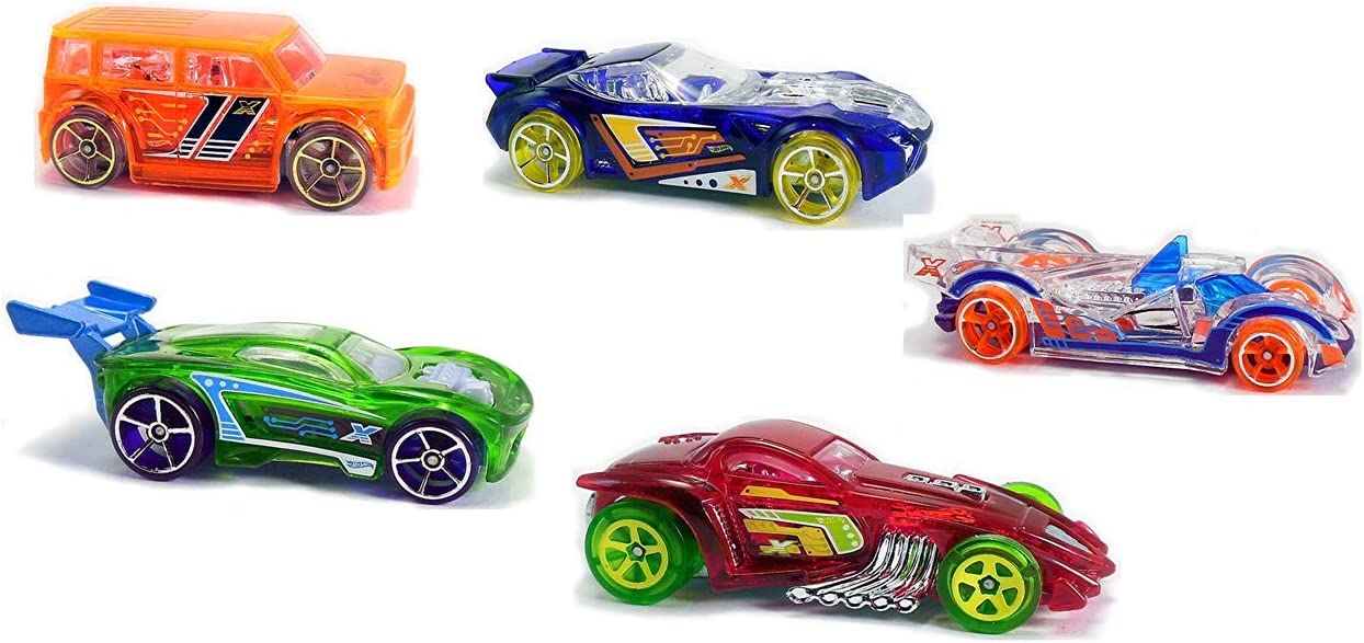 Mattel Hot Wheels HW X-Raycers - 5 Pack - Die-Cast Cars - DJD26 ...