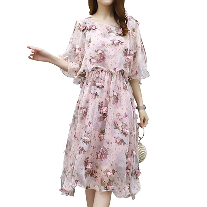 de3f76ecae Image Unavailable. Image not available for. Color: Freedi Womens Floral  Maxi Dress Chiffon ...