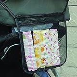 Charis Kid Mesh Stroller Bag - Stroller Attachable Organizer Carrying Bag - Umbrella Baby Stroller Accessories (Black (1 Pack))