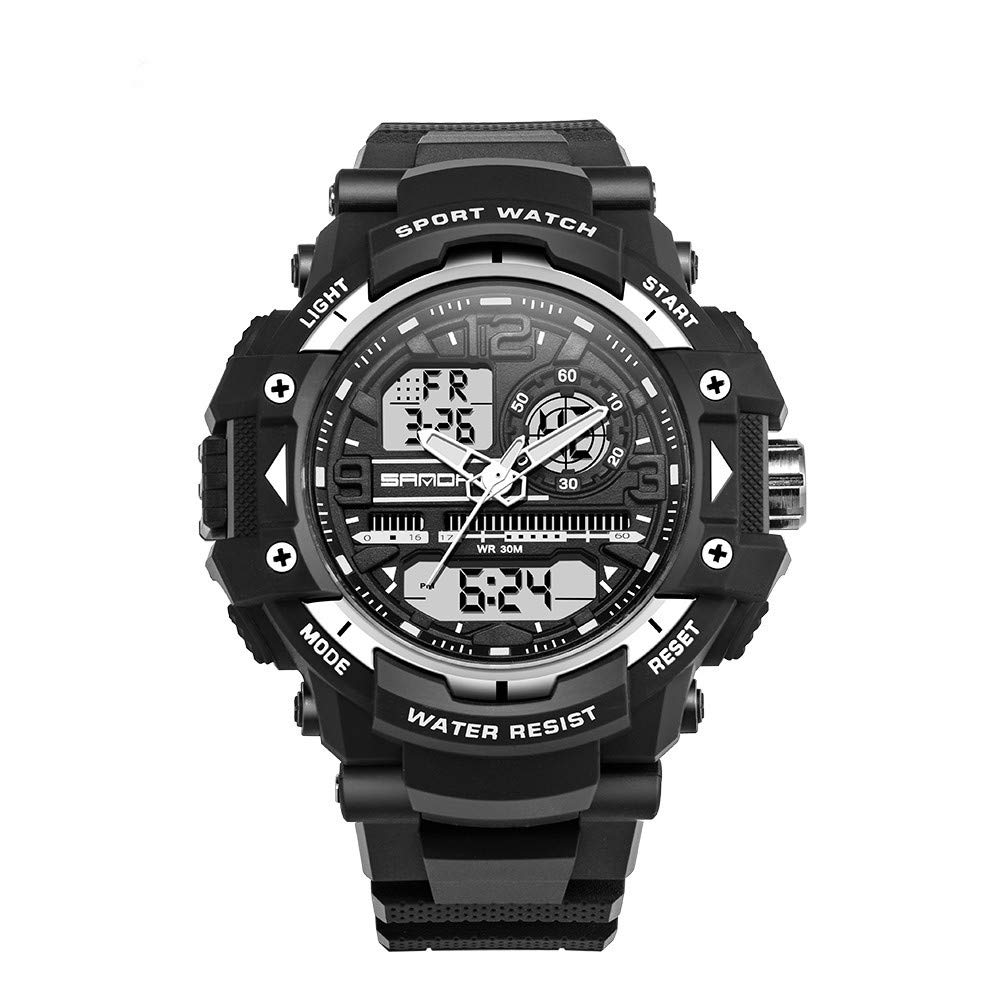 ... Wrist Watches 5ATM Water Resistant Outdoor Watch on Sale on Clearance Military Quartz Watchs with Rubber StrapSilicone Case Relojes De Hombre: Watches