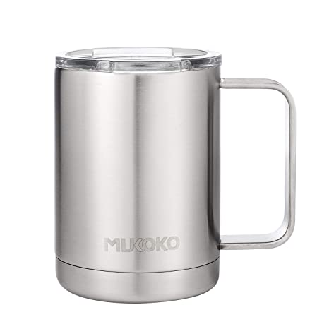 4e9c6e925a1 16oz Stainless Steel Insulated Coffee Mug with Lid and Handle,Double Wall  Vacuum Travel Mug with Lid,Perfect for Cold Drinks & Hot Beverages(14oz ...