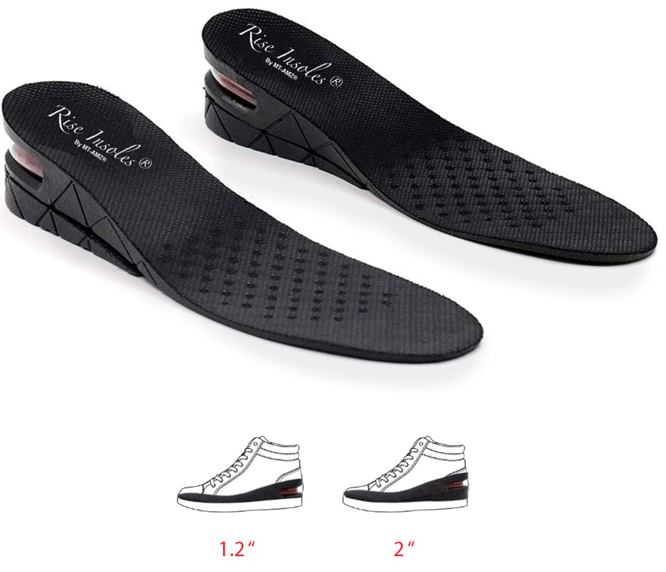 Height Increase Insole 4-Layer Orthotic Heel Shoe Lift kit with Air Cushion for