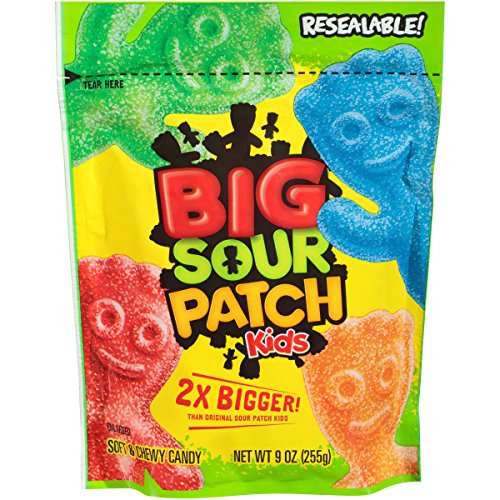 Sour Patch Kids Big Kids Soft and Chewy Candy, 9 (Big Kid Candy)